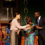 Kimmie Weeks receives the World's Children's Prize from HRH Princess Victoria